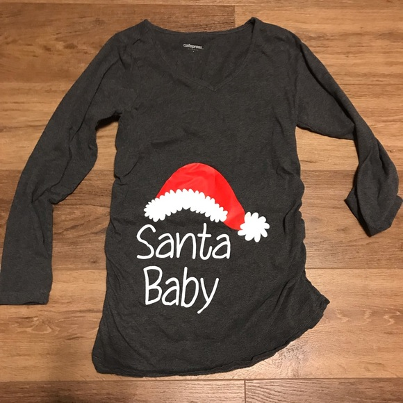 fc0e41a51bc0f cafepress Tops | Maternity Shirt Christmas Santa Baby | Poshmark